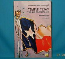 1969 TEMPLE TEXAS Southwestern Bell Telephone Directory with Yellow Pages