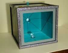 Large Professional Mirror Box. Stage Magic Trick. Production and Vanishing Box.