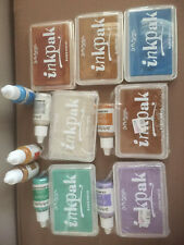 7 Dr Ph Martin's IRIDESCENT AcidFree Rubber Stamp Ink Pads Reinkers NEW Rare LOT