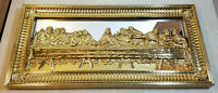 Home Interiors The Lord's Last Supper With Apostles Vintage Gold Mirrored