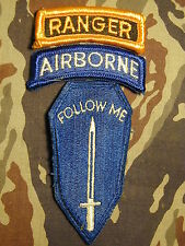 U.S. Army Infantry School Ranger Instructor shoulder patches AIRBORNE Follow Me