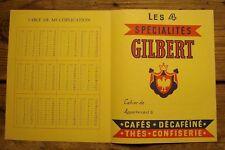 Ancien protège cahier publicitaire cafés thés confiserie Gilbert