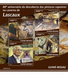 Guinea-Bissau - 2020 Lascaux Cave Paintings - 4 Stamp Sheet - GB200513a