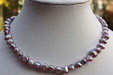 BR2VV 45cm Süßwasser Zucht Perle Schmuck Perlenkette Halskette Kette Collier