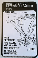 YAMAHA RD250 RD250D RD250E RD250F 2R8 BATTERY BREATHER CAUTION WARNING DECAL