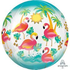 Hawaiian Flamingo Cute Ball Shape 3D Foil Balloon Tropical Luau Party Decoration