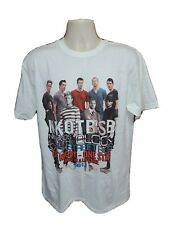 2011 New Kids on The Block and Backstreet Boys One Night Adult L White Tshirt