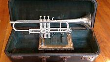 Gorgeous Selmer balanced 24A Bb trumpet.100% original silver.Louis Armstrong.