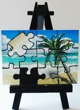 ACEO ORIGINAL PAINTING OCEAN PUZZLE BY REM