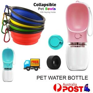 Dog Bowl Food & Water Feeder Collapsible Portable Foldable Travel Puppy bowl AUS