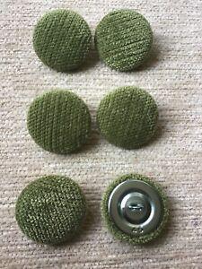 Sage Pimlico Chenille Velvet 45L/28mm Upholstery Loop Back Buttons Green