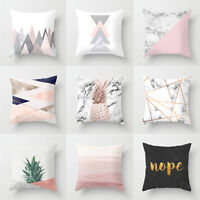 Pink Geometric Pattern Pillow Case Home Sofa Car Cover Home Textiles Accessories
