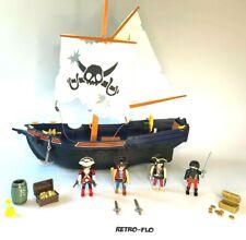 Bateau Pirate + Accessoires - Playmobil 5810 - Vintage 1995