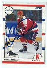 Dale Hunter Signed 1990/91 Score Card #44