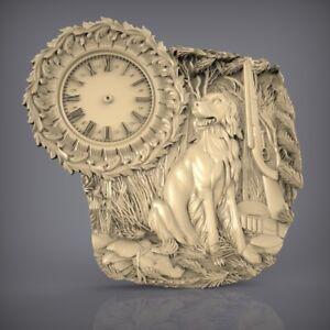 (872) STL Model Clock for CNC Router 3D Printer  Artcam Aspire Bas Relief