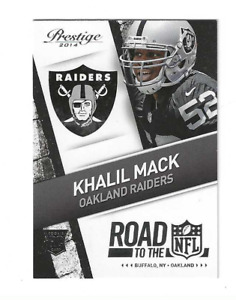 """KHALIL MACK 2014 PRESTIGE """" ROAD TO THE NFL """" ROOKIE RC #36 $20.00 CHICAGO BEARS"""