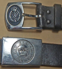 Two (2) EARLY 20th Century NEW ZEALAND Police Uniform BELTs & NZ POLICE Buckles