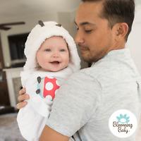 Blooming Bath, Ladybug Hooded Towel, Package Free, Soft, Baby Towel, Bathtime