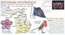 COVERSCAPE computer designed 175th anniversary Michigan Statehood event cover