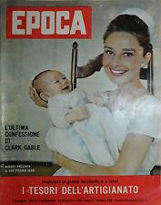 EPOCA N°530/  27/NOV/1960 * L'ULTIMA CONFESSIONE DI CLARK GABLE *