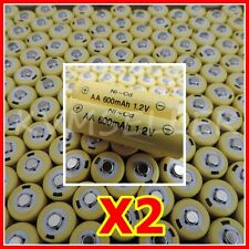2 AA Rechargeable Batteries NiCd 600mAh 1.2v Garden Solar Ni-mh Light Nimh  A2