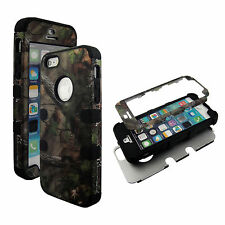 PCSoftArmor Blue Camo Pine RT Black Strip Apple iPhone SE Case Cover  Protector,
