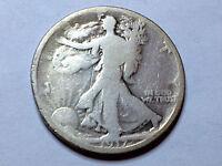 1917 WALKING LIBERTY HALF DOLLAR NICE GRADE COLLECTOR COIN