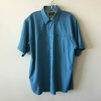 Field & Stream Camp Shirt Button Front Vented Men's Large L New
