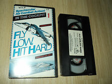 IN THE COCKPIT 1 FLY LOW HIT HARD AVIATION VHS VIDEO TAPE CASTLE 5016500506527