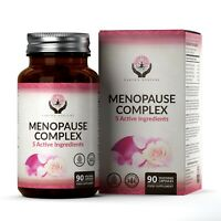 Menopause Complex | 90 Veg Capsules | 5 Active Ingredients | Combats Hot Flushes