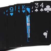 Waterproof Silver Black Plastic PVC Poker Game Magic Board Game Playing Cards