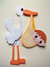 3D-U Pick- BA1 Baby Girl Boy Congratulations Stork Scrapbook Card Embellishment