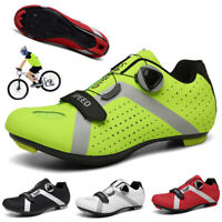 Professional Cycling Shoes Men's Road Bicycle Sneakers SPD Cleats Ultralight