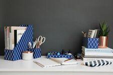Blu Monaco 4 Piece Blue Desk Organizer Set