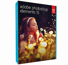 NUOVO Adobe Photoshop Elements 15 software PC e MAC FULL RETAIL BOXED-DVD SIGILLATO
