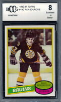 1980-81 Topps #140 Ray Bourque Rookie Card Graded BCCG 8