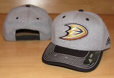 Adidas Anaheim Ducks Line Change Snapback Heathered Grey Hat Cap Men's