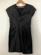 ORIGAMI DOLL Size 8 Grey Sheath Flared Geometric Casual Work Dress