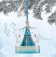 Disney Weihnachts Ornament Die Eiskönigin Elsa Christbaumschmuck Kugel mit MUSIK