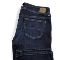 American Eagle Womens 10 Short Slim Bootcut Dark Wash Blue Stretch Jeans EUC