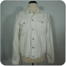 GAP 1969 White Denim Jean Jacket Classic Women's 100% Cotton Four Pockets size L