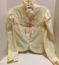 Lily Of France By Rosa Puleo Szule Womens Vintage Bed Jacket ~ Ivory~ Size Large