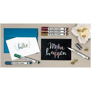 Brushmarker Brushpen, DecoBrush-Metallic, Farbauswahl, Brush Pen Lettering Rico