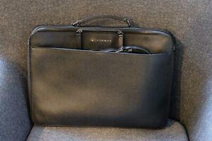 Burberry Blackmore Leather Briefcase   Black   Men