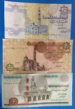 Egypt 3 Paper Money Rare UNCEgyptian Collection Set