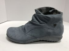 Naot Kahika EUR40 Womens Size 9-9.5M Blue Leather Nubuck Boots Casual Zip Up
