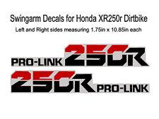 Swingarm Decals for Honda XR250r dirtbike - XR250 XR 250 250R XL250 XL 250 250L