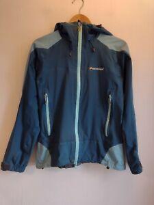 Ladies MONTANE EVENT Jacket Size UK 10 Blue Walking Outdoors Women's Waterproof
