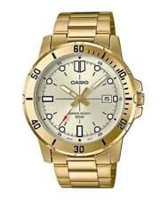 NEWEST Casio MTP-VD01G-9EV Men's GOLD Tone Gold Dial Casual Dress Watch Date WR
