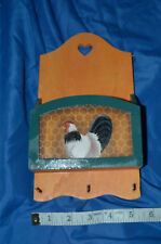 Rooster Themed Key and Mail Holder